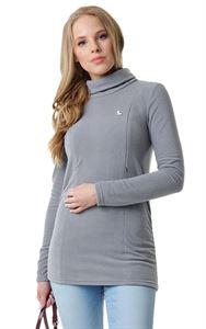 """Bild von """"Pantera"""" Umstandssweatshirt/Stillsweatshirt Fleece ; Farbe: hellgrau"""
