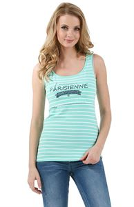 Picture of  Alda Nursing Tank Top; color: menthol / white
