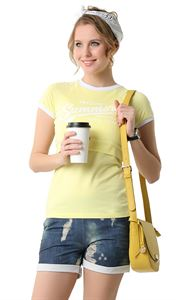 "Picture of T-shirt ""Beckham"" for nursing; yellow color"