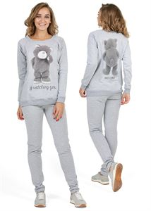 "Picture of Suit warmed ""Jolly"" for pregnant and lactating; color: gray melange / teddy bear"