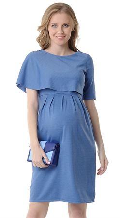 """Obrázek z Šaty """"Belinda"""" pro těhotné a kojící ženy; barva: modrá mélange"""