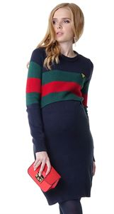 "Picture of Dress ""Eilen"" for pregnant and lactating; color: blue / green"