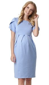 "Picture of Dress ""Cameo"" for pregnant and lactating women; color: blue mélange"