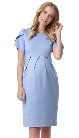 """Obrázek z Šaty """"Cameo"""" pro těhotné a kojící ženy; barva: modrá mélange"""