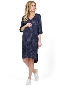 """Obrázek Šaty """"Varno"""" pro těhotné a kojící ženy; barva: tmavě modrá"""