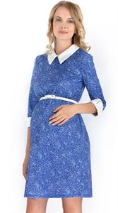 """Изображение Платье """"Ариэнна"""" синее с цветами для беременных"""