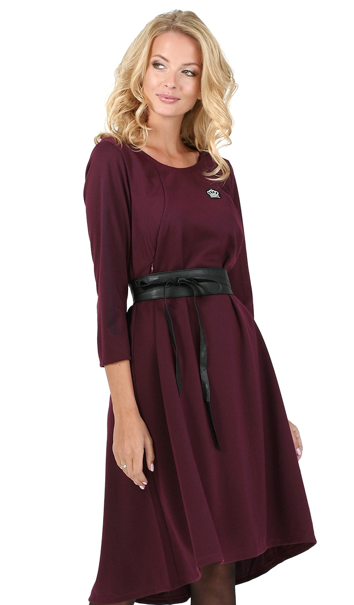 Picture Of Ivanna Maternity And Nursing Dress Color Marsala