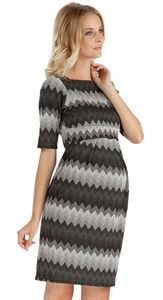 "Picture of ""Ines"" Maternity grey dress"