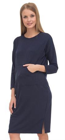 """Изображение Платье """"Лаура"""" т.синее для беременных и кормящих"""