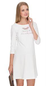 """Изображение Платье """"Лесли"""" молочное для беременных и кормящих"""