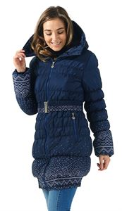 "Picture of Winter jacket ""Iceland"" color: knitted patterns"