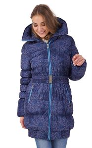 "Picture of Winter jacket 3in1 ""Iceland"" color: flowers on blue"