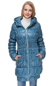 "Picture of Winter jacket ""Hague"" color: blue with a pattern"
