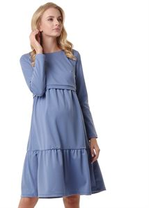 "Picture of Dress ""Violet"" for pregnant and lactating; color: denim"