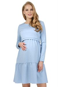 "Picture of ""Violet"" Maternity and nursing dress; color: denim blend"