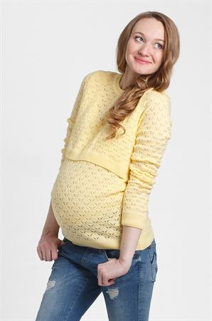 "Picture of Jumper ""Bergamo"" for maternity and nursing; color: pineapple"