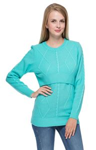 "Picture of Jumper ""Iren"" sky blue for maternity and nursing"