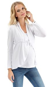 Picture of Maternity cardigan KB02 white