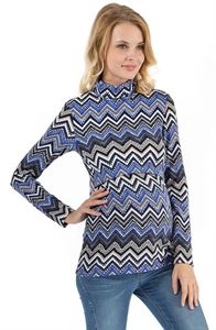 "Picture of Maternity and nursing jumper ""Layma"" blue-light blue"