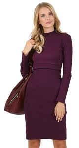 "Picture of ""Madeleine""  nursing dress; colour:  Marsala"