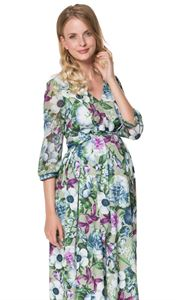 Picture of Rosanna green Maternity and nursing dress
