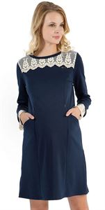 """Picture of """"Sonia"""" Maternity blue dress"""