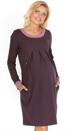 """Picture of """"Frank"""" Maternity lilac dress"""