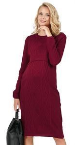 "Picture of Dress ""Charlize"" Maternity and lactating in Marsala"