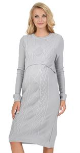 "Picture of Dress ""Charlize"" Maternity and lactating in grey melange"
