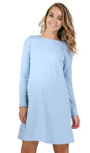"Picture of ""Earlene"" Maternity dress; color: denim blend"