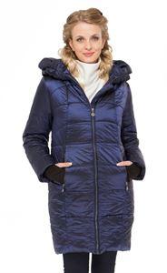 """Изображение Зимняя куртка 2в1 """"Гавана"""" синяя для беременных, обычная"""