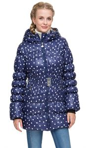 """Picture of Winter jacket 2in1 """"Malta"""" for pregnant women, ordinary color: blue / hearts"""