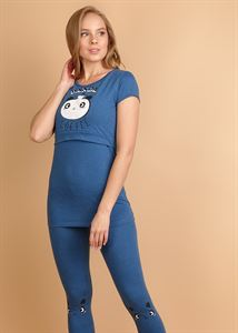 "Picture of Set ""Assel"" for nursing mothers; indigo"
