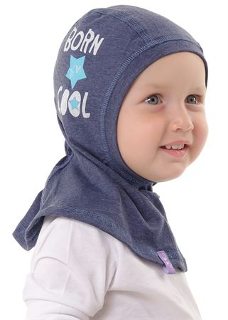 "Picture of Children's hat ""I love Mum""; color: indigo / print"