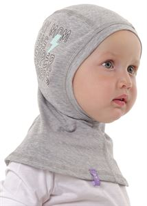 "Picture of Children's hat ""I love Mum""; color: gray melange / print"
