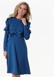 "Picture of Dress ""Rimma"" for pregnant and lactating; color: blue"