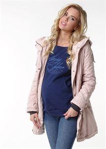 """Obrázek Demi-sezónní bunda 2 v 1 """"Chicago"""" pro těhotné ženy; barva: prášek"""