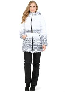 "Picture of Winter set 2 in 1 ""Nebraska"" for pregnant women; color: patterns on white"