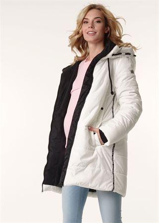 """Изображение Зимняя куртка 3в1 """"Сиэтл"""" для беременных и слингоношения; цвет: молочный"""