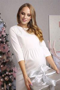 """Image de Платье """"Рикарда"""" экрю для беременных и кормящих"""