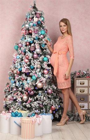 """Изображение Платье """"Марджори"""" персиковое для беременных"""