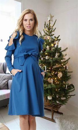 """Изображение Платье """"Римма"""" для беременных и кормящих; цвет: синий"""