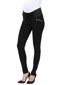 """Obrázek Kalhoty """"Zip"""" pro těhotn ; barva: černé"""