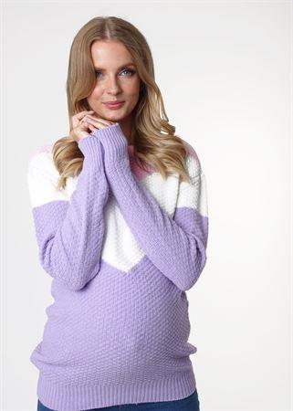 """Obrázek z Jumper """"Ivona"""" pro těhotné ženy; barva: fialová"""