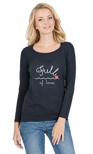 "Picture of T-shirt long sleeve ""Gabija"" Maternity and nursing ; colour: dark-blue colour"