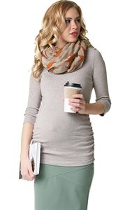 "Picture of ""Elmira""  Maternity And Nursing Long Sleeve T-Shirt: color: beige melange"