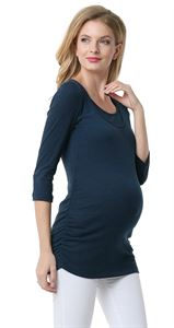 "Picture of ""Elmira"" Maternity And Nursing Long Sleeve T-Shirt: dark-blue colour"