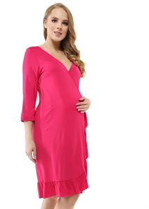 "Picture of Dressing gown ""Flamenco"" for pregnant and lactating; color: fuchsia"