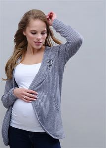"Picture of Cardigan ""Omega"" for pregnant and lactating; color: gray"