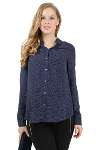 "Picture of Shirt ""Agave"" for pregnant and lactating; color: dark blue / polka dot"